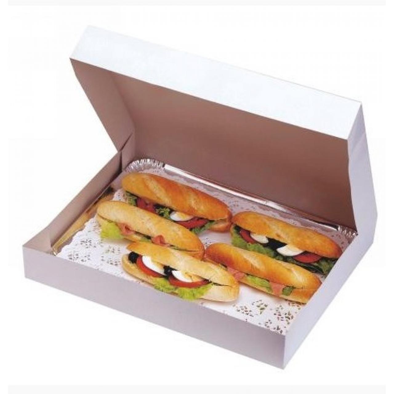 Accueil boite traiteur blanche 43x29x6 cm emballages - Code promo blanche porte 50 et port gratuit ...